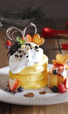 バレンタインボックスパンケーキ